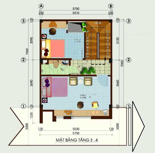 Tư vấn xây nhà 40m2 cao vút - 3