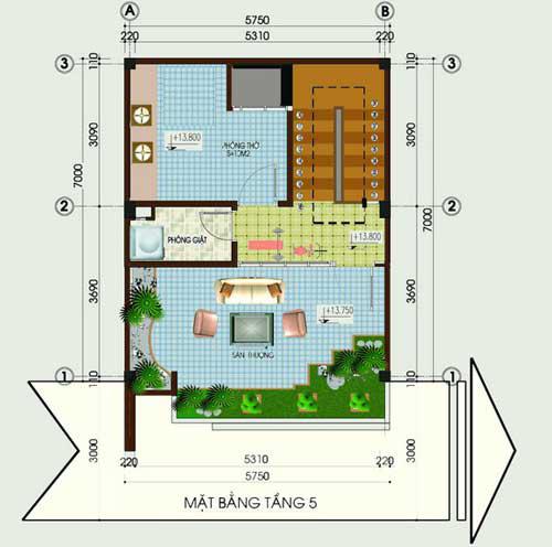 Tư vấn xây nhà 40m2 cao vút - 4