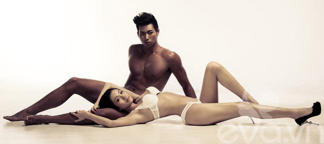 Nhiếp ảnh gia Nguyễn Long đã khai thác tối đa vóc dáng đẹp của Kim Cương và Hữu Long trong shoot ảnh mới nhất.