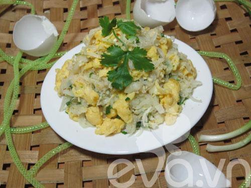 Củ cải xào trứng siêu ngon - 7