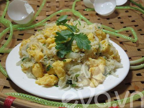 Củ cải xào trứng siêu ngon - 8