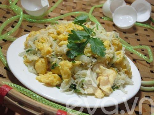 Củ cải xào trứng siêu ngon - 9