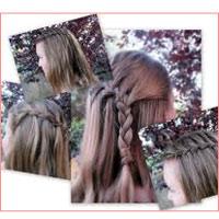 Tết tóc thác nước khoe nét yêu kiều
