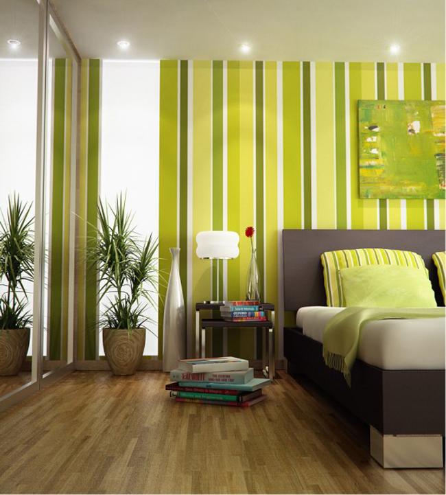 Thật dễ chịu khi được ở trong một căn phòng ngủ màu xanh lá.