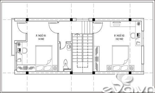 Tư vấn xây nhà đẹp 45m2 ở phố huyện - 3