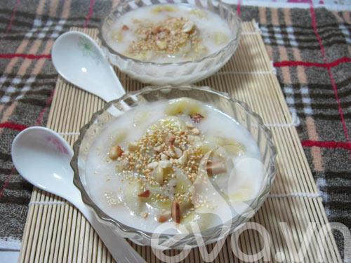 Nóng hổi chè chuối nước cốt dừa - 7