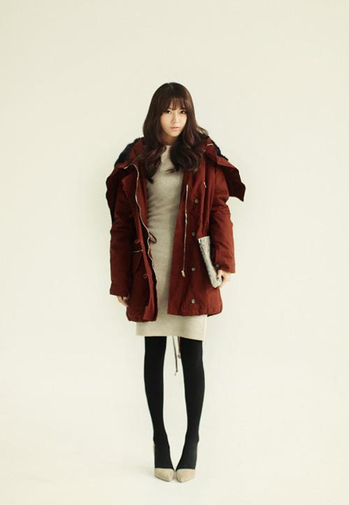 Đông ấm áp với áo khoác kaki - 1