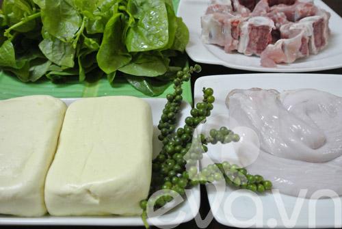 Mê mẩn dạ dày hầm tiêu xanh - 1