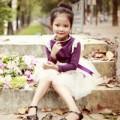 Làm mẹ - Siêu mẫu nhí: Thiên Trang dịu dàng cùng mùa thu!