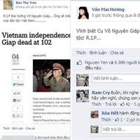Sao Việt tiếc thương Tướng Giáp