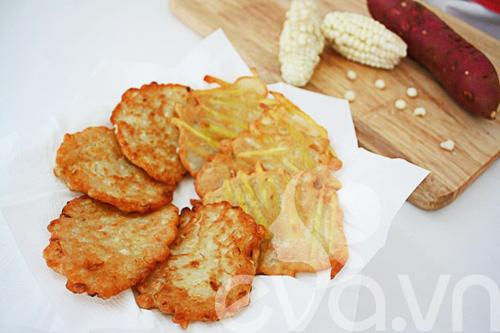 banh ngo, banh khoai chien: de lam, gion thom - 7