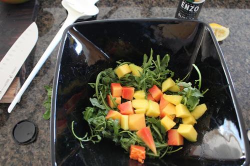 Salad tôm nướng và rau quả - 4