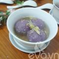 Bếp Eva - Đãi cả nhà chè trôi nước khoai lang tím