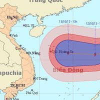 Bão Nari giật cấp 13 đang tiến vào biển Đông