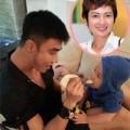 Làng sao - Thúy Vinh khoe ảnh chồng con ở Singapore