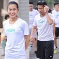 Làng sao - Hà Tăng hào hứng chạy bộ cùng em chồng