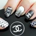 Làm đẹp - Nail trắng đen cho tín đồ của Chanel