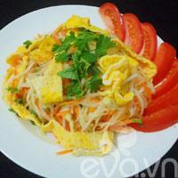 Su hào xào trứng giản dị, ngon cơm