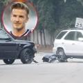 Làng sao - Beckham gây tai nạn khi đang chở Brooklyn