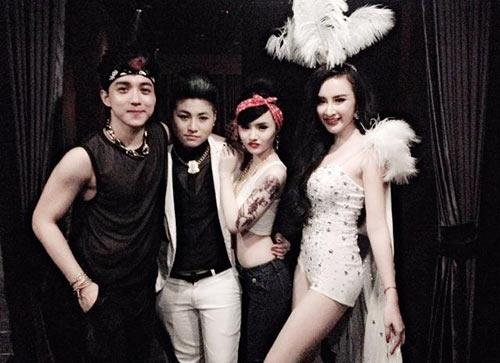 angela phuong trinh dan em gai di bar - 2