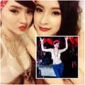Làng sao - Angela Phương Trinh dẫn em gái đi bar