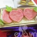 Bếp Eva - Bánh dừa trái tim tặng chàng nhé!