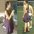 Làng sao - Trang Khiếu ăn mặc sexy đi đá bóng đêm