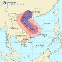 Bão số 14 hướng ra Thanh Hóa - Quảng Ninh