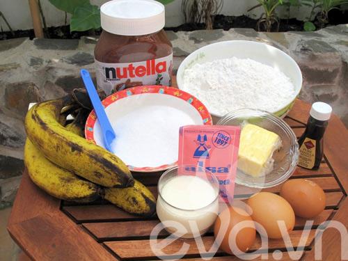 banh muffin chuoi ngon chay nuoc mieng! - 1