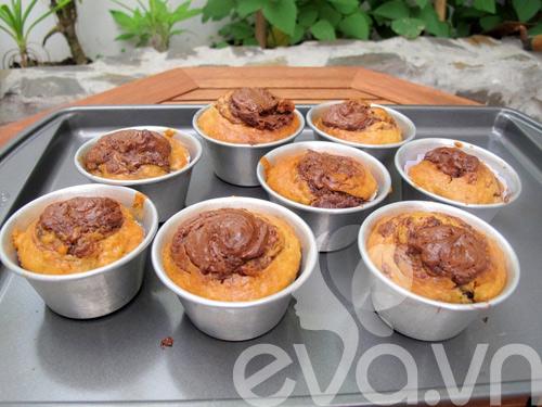banh muffin chuoi ngon chay nuoc mieng! - 7