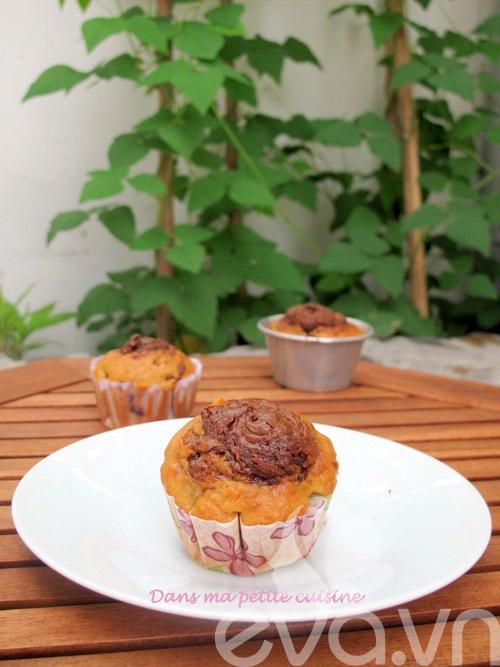 banh muffin chuoi ngon chay nuoc mieng! - 8