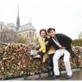 """Làng sao - Hoàng Việt """"khóa chặt"""" tình yêu với Yvonne tại Pháp"""