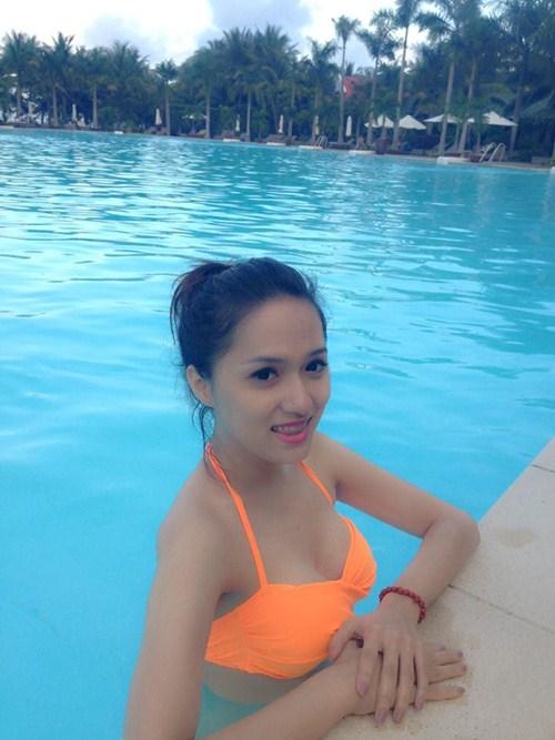 huong giang idol khoe dang nuot voi bikini - 3