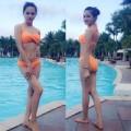 Làng sao - Hương Giang Idol khoe dáng nuột với bikini