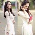 Thời trang - Hương Giang Idol tinh khôi trong tà áo dài trắng