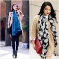 Thời trang - Quý cô điệu đà với khăn ngày mưa lạnh
