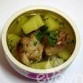 Bếp Eva - Móng giò hầm đu đủ xanh