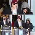 Kim Bum cùng bạn gái tay trong tay tại sân bay