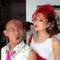 Lan Phương hóa Bà Tưng trong hài Tết 2014