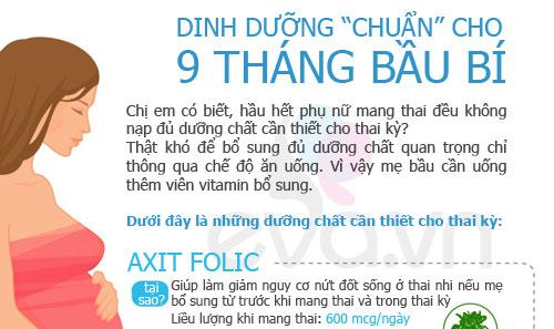 dinh duong 'chuan' 9 thang mang thai - 1