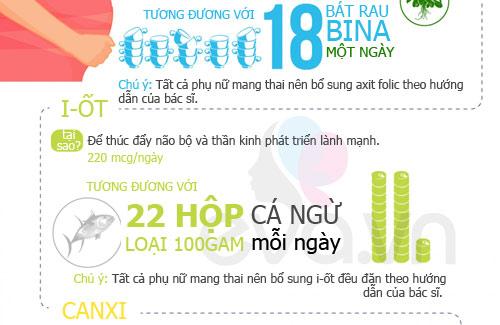 dinh duong 'chuan' 9 thang mang thai - 2