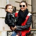 Thời trang - Vắng bố, mẹ con Miranda rủ nhau sành điệu
