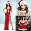 Thời trang - Sao nữ ''đỏ rực'' gợi cảm đón Noel
