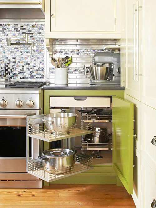 Ấn tượng mẫu tủ bếp đẹp và cực tiện - 2
