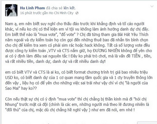 hà linh bi to bo tien mua vote the voice - 3