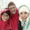 Ngọc Hân cùng bố mẹ say mê trượt tuyết
