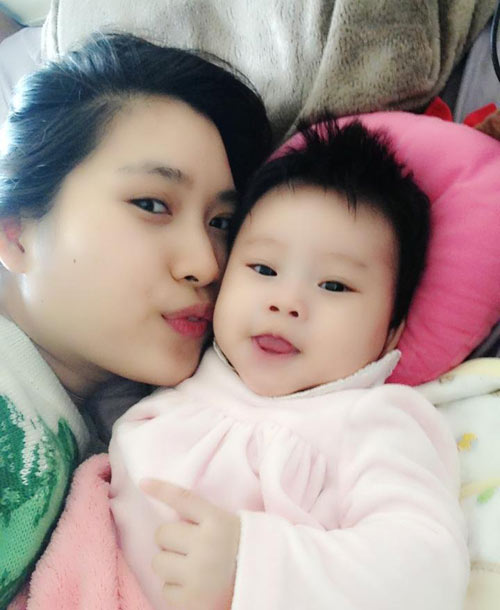 nguong mo: con 4 thang, me giam 25kg - 5