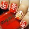 Vẽ nail hoa tuyết đón Noel cực dễ
