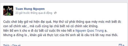 "tuan hung ""an ui"" quoc trung ve ket qua the voice - 5"