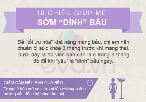 """10 chieu giup me som """"dinh"""" bau - 1"""